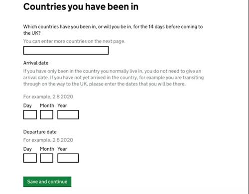 英国留学,英国留学生入境,英国留学隔离政策,入境英国,入境表