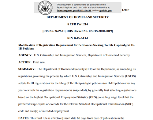 美国留学,美国H-1B,美国国土安全部,美国签证,美国H-1B签证